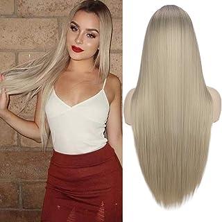Blonde Fraise BECUS 10 pouces Bob perruque courte droite synth/étique synth/étique r/ésistant /à la chaleur perruque avec frange pour les femmes Cosplay