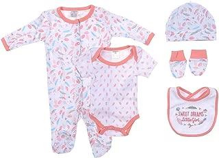 Snugzeez Sweet Dreams Pink Baby Gift Set, 00, 5 Count