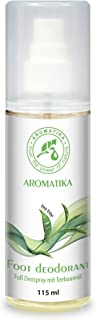 Desodorante en Aerosol para Pies con Aceite de Arbol Del Té (Tea Tree) y Menta 100% Natural 115ml - para el Cuidado Del Pie y Eliminar el Mal Olor - Aerosol para Pies
