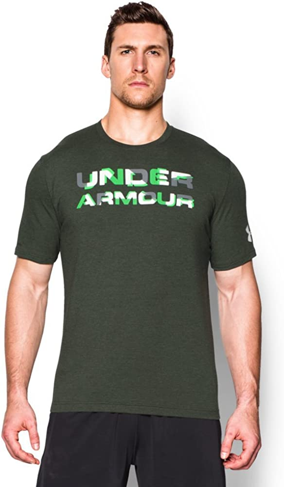 Under Max 80% OFF Armour Popular brand in the world Men`s Stacked Graphic Wordmark T-Shirt