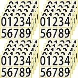 ユポ ナンバー シール ステッカー 33K0920 大 大きい 防水 ラベル 00 99のナンバリング可能 番号 数字 PP加工 耐候性 屋外 33 66mm 片 0 9の10種各1片 20シート 33K0920