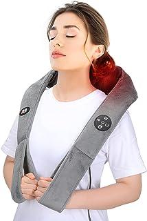 Doact Masseur Cervical Shiatsu avec Chauffant et Timing Fonction, Massage Cervicales et Cou avec 8 Têtes de Massage Pétris...