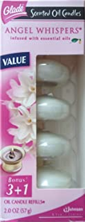 Glade Scented Oil Candle Refill, Angel Whispers, 4 ea