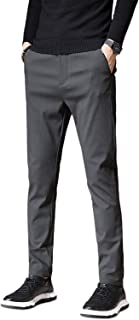 KTMOUW チノパン メンズ スキニーパンツ ストレッチ 大きいサイズ パンツ スウェット 細身 ロングパンツ 美脚 伸縮性 通勤 ズボン 通気性 無地 秋冬服 ブラック ダークグレー アーミーグリーン