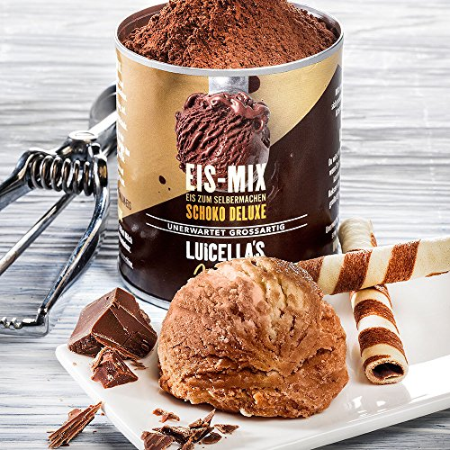 Luicella's Eis Mix Schoko Deluxe Speiseeis Pulver für 800-900ml cremiges Speiseeis