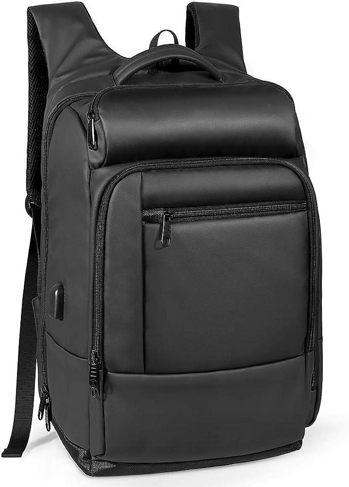 Naturalife,zaino per laptop portatile con tasca coibentata,copertura impermeabile e porta di ricarica usb 735EU-0002