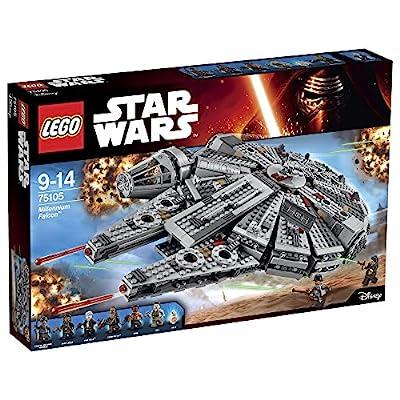 Construis le célèbre Millennium Falcon, avec son cockpit détachable, ses deux fusils à ressorts et son intérieur détaillé Rejoue des scènes du film Star Wars : Episode VII, Le Réveil de la Force Inclut 6 figurines et des armes assorties : Rey, Finn, ...