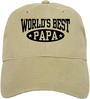 5e0583b8 CafePress - World's Best Papa - Baseball Cap with Adjustable Closure,  Unique Printed Baseball Hat