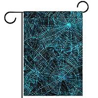 ガーデンフラッグ両面印刷防水蜘蛛巣蜘蛛巣 庭、庭の屋外装飾用