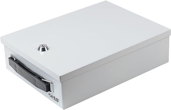 671 opinioni per HMF 140-07 Cassetta per Documenti con Serratura | DIN A5 | 27 x 20,5 x 8 cm |