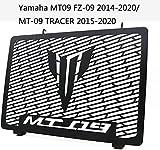 ZJWD Cubiertas del Radiador, Cubierta Protectora De La Rejilla del Radiador De La Motocicleta del Tanque del Enfriador De Agua De Acero Inoxidable para Yamaha MT09 FZ-09 2014-2020 / MT-09 Tracer