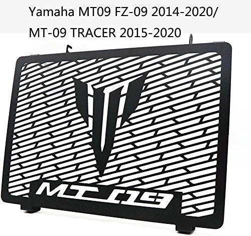 ZJWD Cubiertas del Radiador, Cubierta Protectora De La Rejilla del Radiador De La Motocicleta del Tanque del Enfriador De Agua De Acero Inoxidable para Yamaha MT09 FZ-09 2014-2020 / MT-09 Trac
