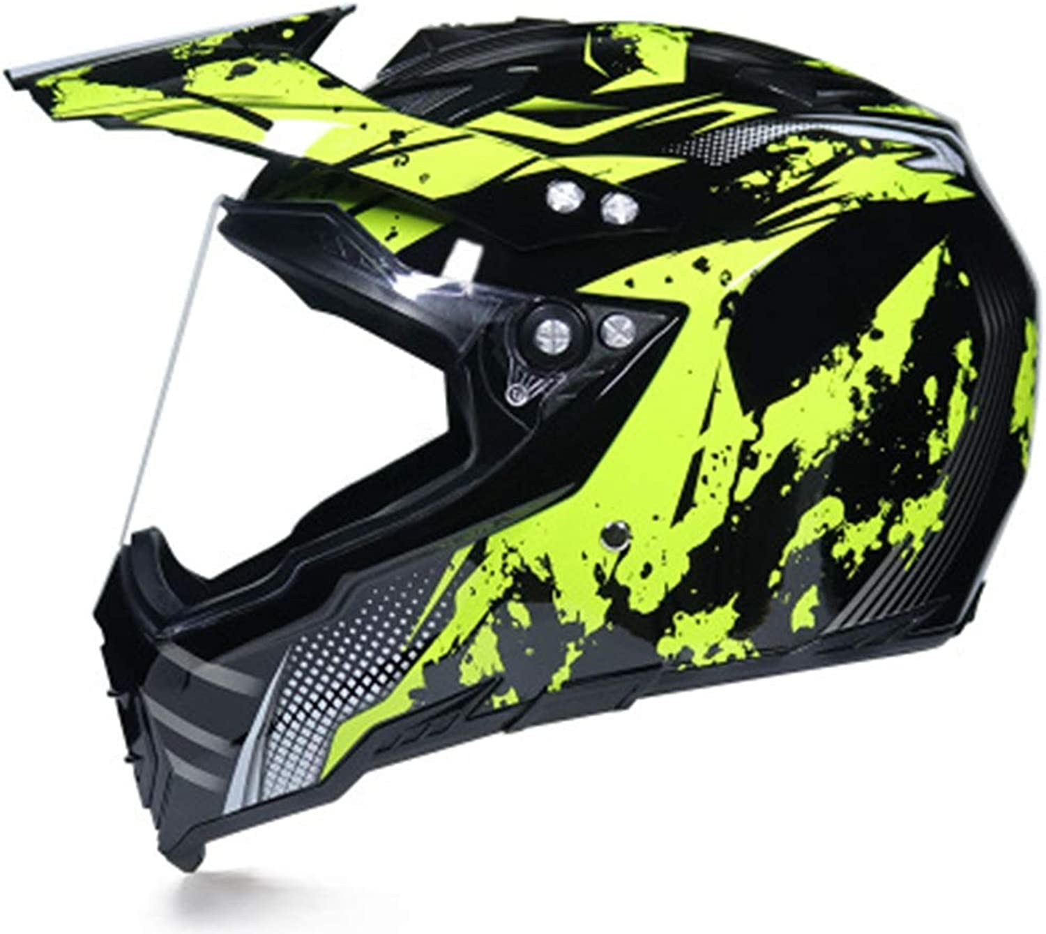 Songlin@yuan Creative Motocross Helmet Men's Rally Helmet Personality Cool Locomotive Helmet Road Helmet Full Cover Four Seasons Predection