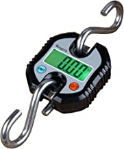 Mougerk 165lb 75kg Fish Scale Portable Heavy Duty Digital Hanging Hook Scales with Measuring Tape 2 AAA Batteries Not Included