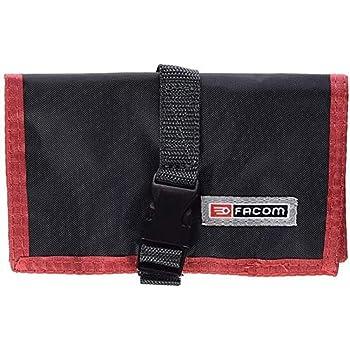 Facom N.38A-10A Estuche de nailon, 10 bolsas, Negro/Rojo: Amazon.es: Bricolaje y herramientas