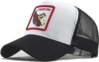 DOLDOA Hut Damen Sommer,Unisex Outdoor Baumwolle Hochwertige Tier Bestickte Baseball Caps Einstellbar