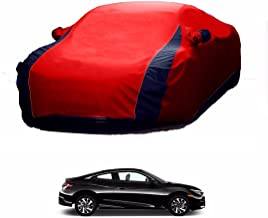 MotRoX Lively Water Resistant Car Body Cover for Honda Civic (Red & Blue - V Shape)