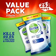 Dettol Antibacterial Surface Cleaning Wipes, 252 Wipes