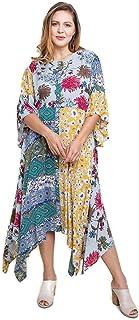 d39dcf9b03 Umgee Women s Floral Mixed Print Bell Sleeve Maxi Dress