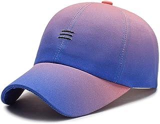 Beerty Boné de beisebol para homens e mulheres, boné de beisebol de cor contrastante, listrado, bordado, chapéu de caminho...