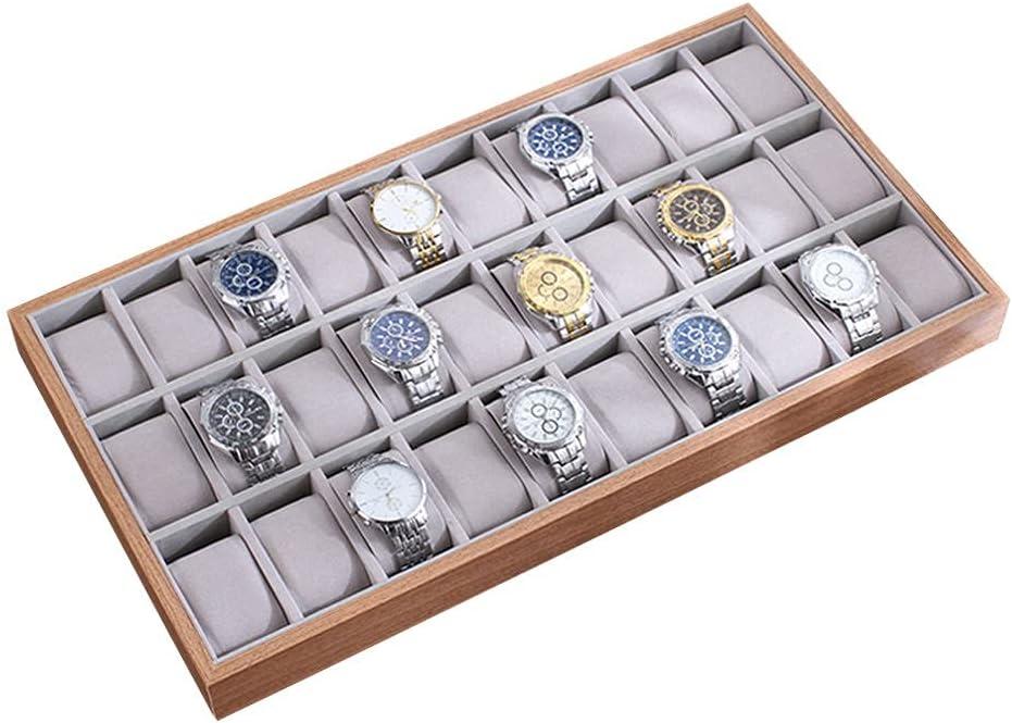 30 Slot Wooden Watch Box Organizer High material Women San Antonio Mall for C Display Men