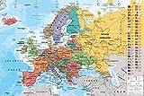 AMBROSIANA GB Eye Ltd, Mappa de Europa, Maxi Poster 61x91,5 cm