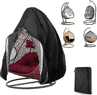 Patio Egg Chair Cover 420D Upgrade Outdoor Egg Chair Covers Double Hanging Swing Egg Chair Covers With Zippers Waterproof ...