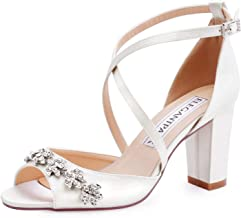 Best ivory strappy bridal shoes Reviews