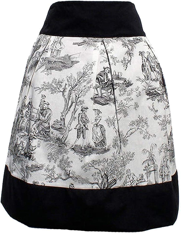 Hemet Women's Day of The Dead Victorian Toile Inspired Skirt