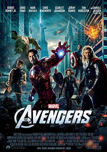 CoolPrintsUK Póster de The Avengers sin fronteras y brillante, varios tamaños (A3, 420 x 297 mm)