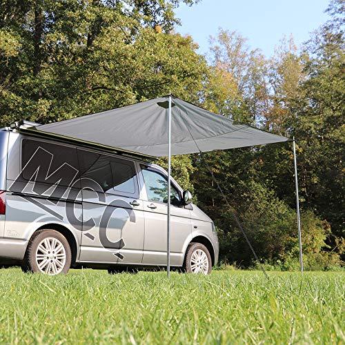 deiwo Premium Bus Sonnensegel Sonnenvordach Markise Sonnensegel | grau | 250 x 240 cm | passend für T5 T6 T4