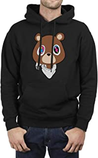 Long Sleeve Fleece Kanye-West-Graduation-Teddy-Bear- Mens Pullover Hoodie