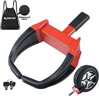 OKLEAD Security Wheel Clamp Lock - Anti Theft Camper Wheel Boot Tire Claw for Atv'S Motorcycles Golf Cart Trailers Boats Max 10