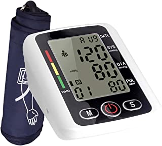 Tensiómetro de Brazo Digital Recargable/Función de transmisión de voz / 2X99X Almacenamiento de datos/Luz de fondo LCD/Profesionales y usuarios domésticos - Blanco