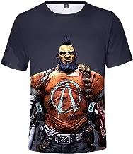 Jack Fashion Borderlands 3 T Shirts,3D Digital Printing T-Shirts,Comfortable Breathable Round Collar Short Sleeve Shirts Top for Boys & Girls & Men & Women