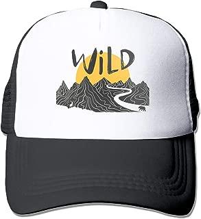 Tom Sapira Mountain Landscape Deer Unisex Trucker Hat Fashion Mesh Cap Adjustable Hip-hop Baseball Cap Black