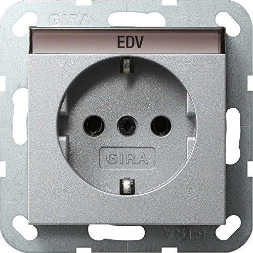 Gira stopcontact SCHUKO 045726 BSF systeem 55 kleur aluminium, 250 V, aluminium