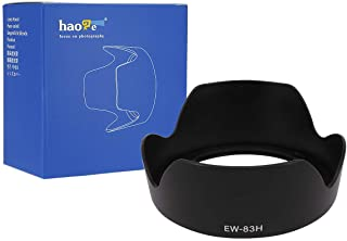 Haoge Bayonet Lens Hood for Canon EF 24-105mm f4L is USM Lens Replaces Canon EW-83H