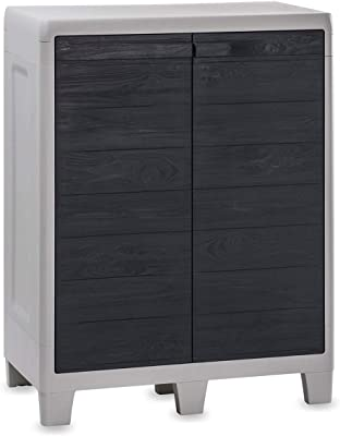 TOOMAX Courte Cabinet Woody's XL, Gris Clair/Anthracite, 78x 46x 101cm