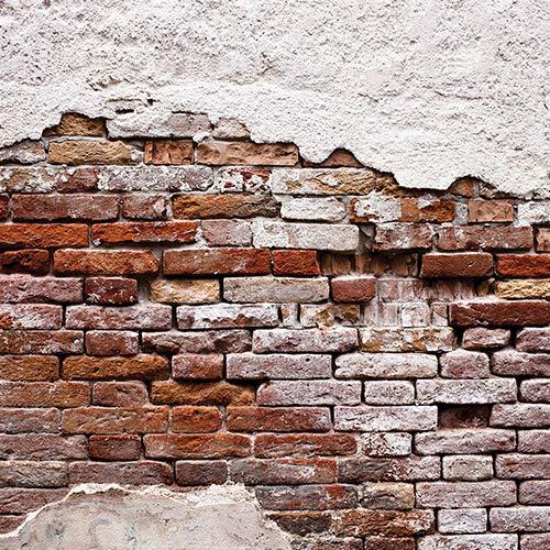 FORWALL Fototapete Vlies - Tapete Moderne Wanddeko Abgenutzte Alte Rote Mauer V8 (368cm. x 254cm.) AMF10182V8 Wandtapete Design Tapete Wohnzimmer Schlafzimmer
