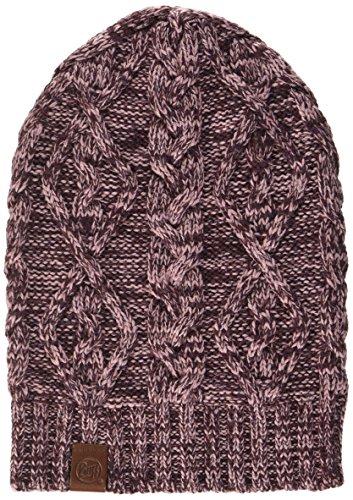 Buff Knitted A noubas Bonnet, Rose Heather, Taille Unique