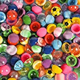 ArtCreativity 1.25 Inch Rubber Poppers Mix for Kids, Bulk Pack of 72 Pop-Up Half Ball Toys, Fun Assorted Designs and Colors, Old School Retro 90s Toys, Birthday Party Favors and Treat Bag Fillers