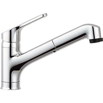 LIXIL(リクシル) INAX キッチン用 ワンホールシングルレバー混合水栓 ハンドシャワー付 エコハンドル RSF-833Y