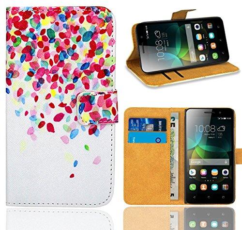 Huawei G Play Mini/Honor 4C Handy Tasche, FoneExpert® Wallet Hülle Flip Cover Hüllen Etui Ledertasche Lederhülle Premium Schutzhülle für Huawei G Play Mini/Honor 4C (Pattern 1)