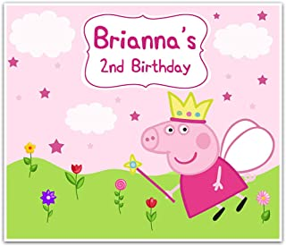 "Peppa Pig Fairy Birthday Banner 42"" x 36"""