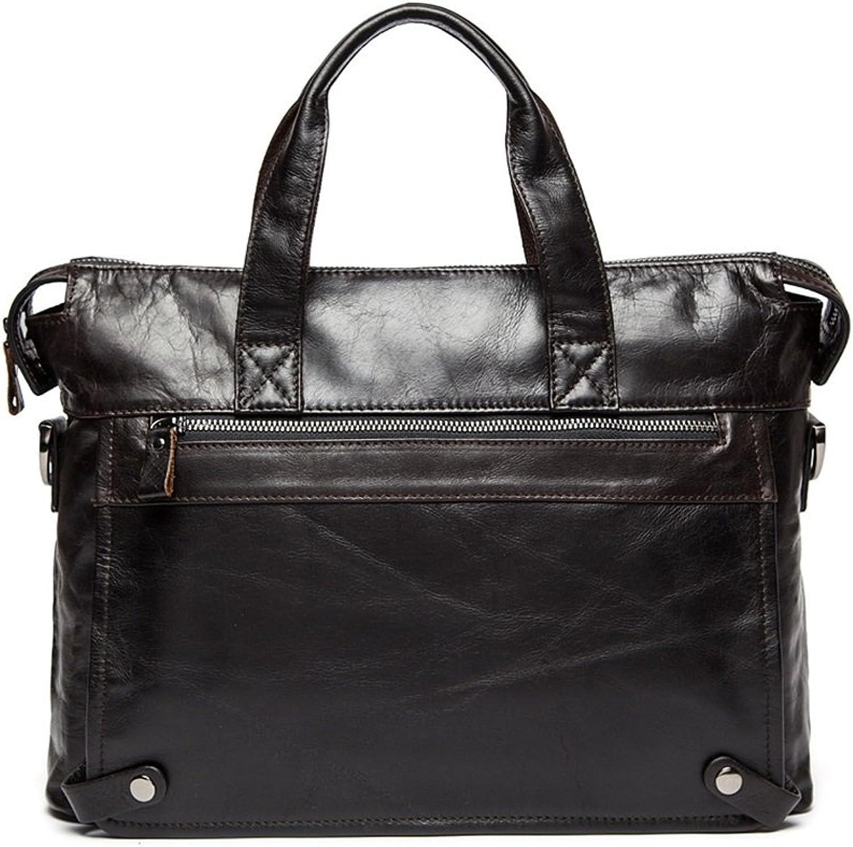 Yocobo Herren Messenger Brifecase Vintage Leder Aktentasche für Männer Tote Business Messenger Bag 14-Zoll-Laptop-Umhängetasche für Männer Frauen (Farbe   Braun) B07MYX4PPW