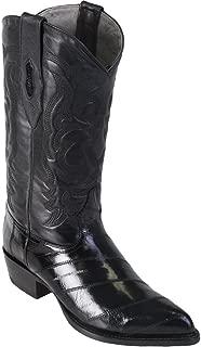 Genuine EEL Skin Black J-Toe Los Altos Men's Western Cowboy Boot 990805