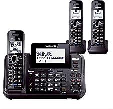 Panasonic KX-TG9542B + KX-TGA950B سیستم بی سیم 3-هدست (2 خط) DECT 6.0 1.9Ghz
