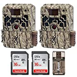 (2) Browning Trail Cameras Strike Force Extreme 16 MP Game Camera + 16GB SD Card + Focus USB Reader...