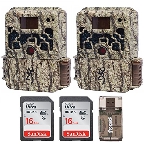(2) Browning Trail Cameras Strike Force Extreme 16 MP Game Camera + 16GB SD Card + Focus USB Reader Bundle